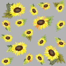 Free Seamless  Background. Sunflower. Stock Photography - 17645602