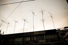 Free Antenna And Sky Royalty Free Stock Image - 17645676