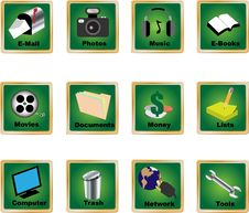 Free Pc Icons 2 Royalty Free Stock Photo - 17645755