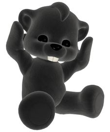 Free Black Plush Toy Royalty Free Stock Photo - 17646045