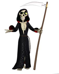 Free Toon Reaper Stock Photo - 17646160
