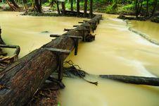 Free Wooden Bridge Royalty Free Stock Image - 17646216