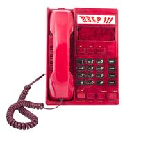 The Phone Is Red Stock Image