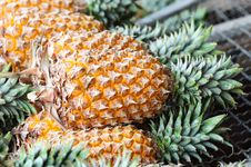 Free Pineapple On The Market Royalty Free Stock Images - 17647929