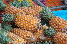 Free Pineapple On The Market Stock Photo - 17648060