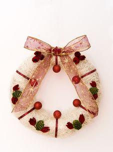 Free Christmas Wreath Royalty Free Stock Image - 17648376