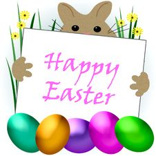 Free Easter Bunny Greetings Stock Photos - 17648643