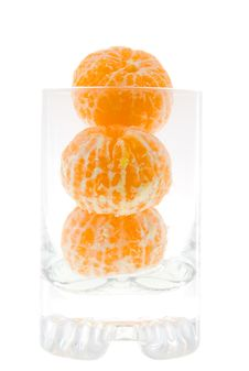 Free Tangerines In A Glass Stock Image - 17649201