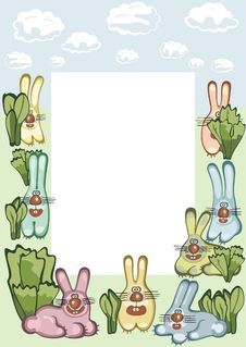 Free Frame With Hares Royalty Free Stock Image - 17649286