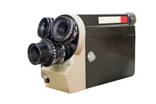 Free Retro Movie Camera 8mm 16mm Royalty Free Stock Photo - 17649765