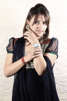 Traditional Punjabi Girl Stock Photography