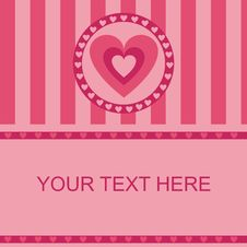 Free Cute Hearts Frame Royalty Free Stock Photography - 17649967