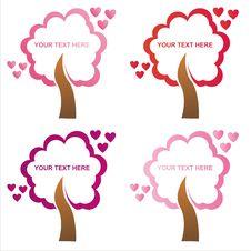 Free Set Of 4 St. Valentine S Day  Frames Stock Photo - 17649980