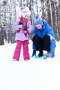 Free Happy Mother And Daughter In A Winter Park Royalty Free Stock Photos - 17652298
