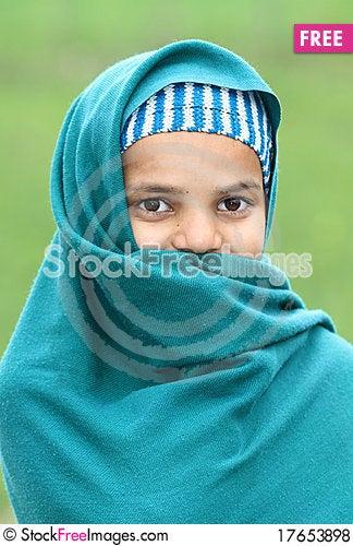 Free Shy Muslim Girl Royalty Free Stock Photos - 17653898