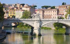 Free Ponte Vittorio Emanuele II In Rome, Italy Royalty Free Stock Photography - 17650037