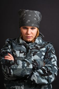 Free Girl In Uniform Royalty Free Stock Photos - 17650208