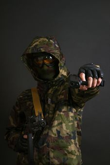 Free Armed Soldier Royalty Free Stock Photo - 17650305