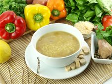 Chicken And Rice Soup Royalty Free Stock Photos