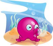 Free Purple Octopus Stock Photos - 17650533