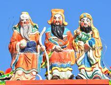 Free Three Chinese Gods Stock Photos - 17650583