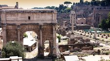 Free View Of Roman Forum In Rome, Italy Royalty Free Stock Image - 17650626