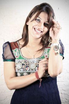 Free Indian Kundan Jewellery Stock Photography - 17650732