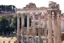 Free View Of Roman Forum In Rome, Italy Royalty Free Stock Images - 17650779