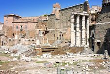 Free View Of Roman Forum In Rome, Italy Stock Photos - 17650973