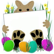 Easter Bunny Feet Stock Images