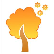 Free Orange Floral Tree Royalty Free Stock Images - 17651799