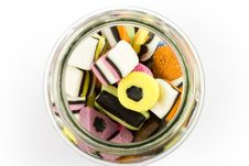 Free Glass Jar Filled With Liquorice Candy Royalty Free Stock Photos - 17651978