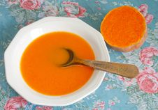 Free Creamy Pumpkin Soup Stock Photography - 17652262