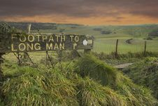 Free Footpath To Long Man Of Wilmington Stock Photography - 17652352