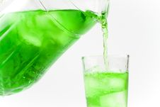 Free Green Cold Drink Poured A Glass Stock Images - 17652494