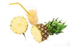 Free Pineapple Juice Royalty Free Stock Photo - 17652645