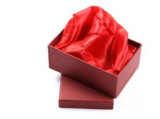 Free Satin Cloth Gift Box Royalty Free Stock Images - 17652909