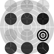 Stencils Of Targets Royalty Free Stock Photos