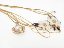 Gold Necklaces Royalty Free Stock Images