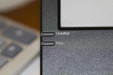 Charging Laptop Battery Connection Royalty Free Stock Photography