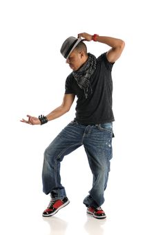 Free Hip Hop Dancer Performing Royalty Free Stock Image - 17653816