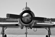 Free Warbird CJ6 Trainer Royalty Free Stock Image - 17654036