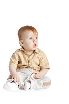 Free Little Funny Boy Portrait Royalty Free Stock Photos - 17654348