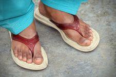 Free Indian Women Feet Royalty Free Stock Image - 17654456