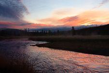 Free Gibbon River Sunset Royalty Free Stock Image - 17654516