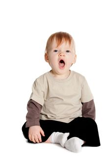 Free Little Boy Yawns Royalty Free Stock Image - 17654666