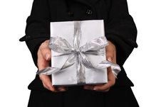 Free Holding Out A Present Stock Images - 17654774