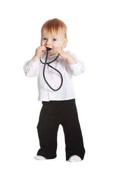 Free Little Boy With Stethoscope Royalty Free Stock Image - 17654776