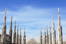 Free Gothic Spires, Cathedral Of Duomo Royalty Free Stock Photography - 17654847