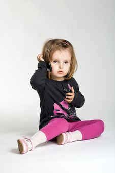 Free Girl With Mobile Phone Stock Photos - 17655003